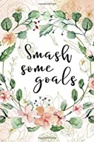 Smash Some Goals: To do List with checkboxes | Daily Checklist Planner & Journal | Undated Start Anytime | Watercolor floral pattern (Task Planners & Organizers)