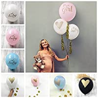 10PCS Baby Shower Balloons it's a boy it's a girl oh baby Printed Latex Balloons