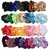 TOOGOO 36 Pcs Hair Scrunchies Velvet Elastic Hair Bands Hair Ties Ropes Scrunchie For Women Or Girls Hair Accessories
