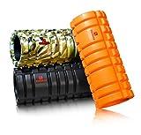 DB Praise フォームローラー Foam Roller 特典:写真付きマニュアル 7色 健康器具 ローラー 効果的なスポーツトレーニング (Black&Purple)
