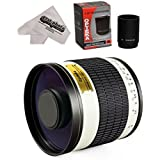 Opteka 500mm / 1000mm f6.3HD望遠ミラーレンズfor Panasonic Lumix DMC g9、gh5、gx850、g85、gx8、g7、gm5、gh4、gx7、gh3、gh1、Olympusペンe-pl7、p5、pl5、pm2、pl2Micro Four Thirdsデジタルカメラ