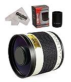 Opteka 500?mm / 1000?mm f / 6.3?HD望遠ミラーレンズfor EOS M for Canon eos-m m100、m10、m5、m6?m3コンパクトデジタルミラーレスカメラ
