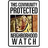 [アクエリアス]Aquarius Neighborhood Watch Kill Bill Tin Sign 30129 [並行輸入品]