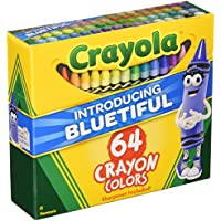 Crayon Set, 3-5/8, Permanent/Waterproof, 64/BX, Assorted, Sold as 1 Box by Unknown