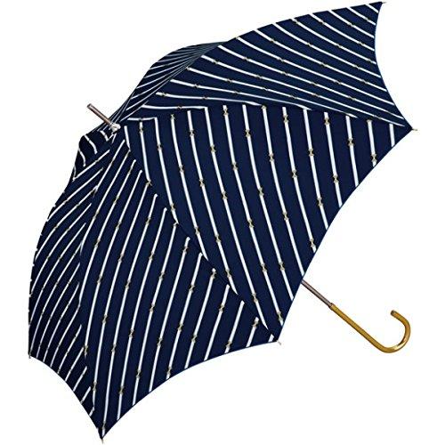 w.p.c(WPC) 【長傘】【軽くて丈夫で持ちやすい】バイアスりぼん (雨傘/レディース)【ネイビー/58】