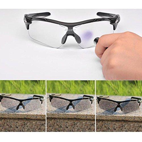 ROCKBROS(ロックブロス)フォトクロミック 調光偏光レンズ 色が変わる ゴーグル UVカット 超軽量スポーツサングラス/自転車/釣り/ランニング/ドライブなど適用