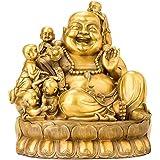 Maitreya Buddha Sculpture, Laughing Buddha, Pure Copper Statue, Lucky Decor, Desktop Collection, Feng Shui Crafts, Home Decor