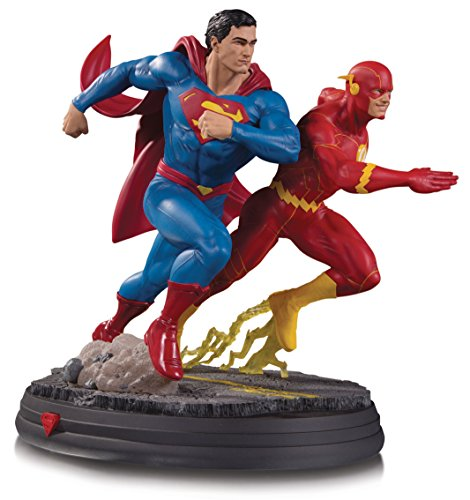 DC Collectibles DCギャラリー:スーパーマン対The Flash Racing Resin Statue