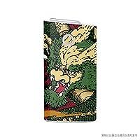 Biijo グロー シール glo スキンシール 全面対応 龍 ドラゴン 和柄 (A.緑×赤)