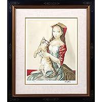 藤田嗣治 レオナール?フジタ 猫を抱いた頭巾の少女 リトグラフ 複製版画 限定300部