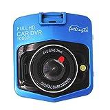 改良版 ドライブレコーダー 車載カメラ ビデオカメラ 1080P 2.5インチ 1200万画素 フルHD Gセンサー 140度広角 駐車監視 暗視機能 衝撃録画 動き検知 小型 防犯 日本語説明書付き ブルー
