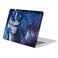 "koolmac [フルボディハードケース] [ Apple MacBook Air 11インチ11"" (モデル: a1370/ a1465) ]–Artistic Sugar Skull Woman Girl Day of the Deadスケルトンメイクアップブルーローズ"