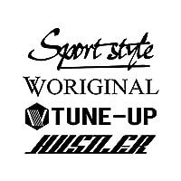 Sport style mix ハスラー カッティング ステッカー ブラック 黒