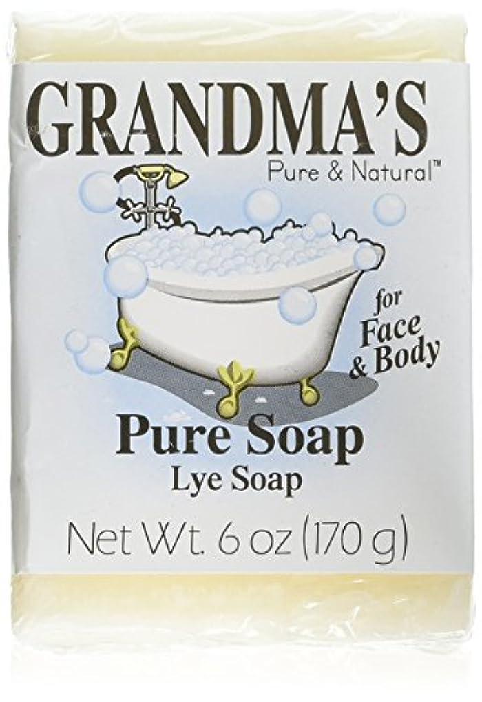 馬力成人期非公式Grandma's Pure & Natural Lye Soap Bars for Dry Skin No Additives 6oz (Set of 4)