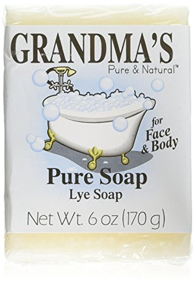クッション口実カリキュラムGrandma's Pure & Natural Lye Soap Bars for Dry Skin No Additives 6oz (Set of 4)