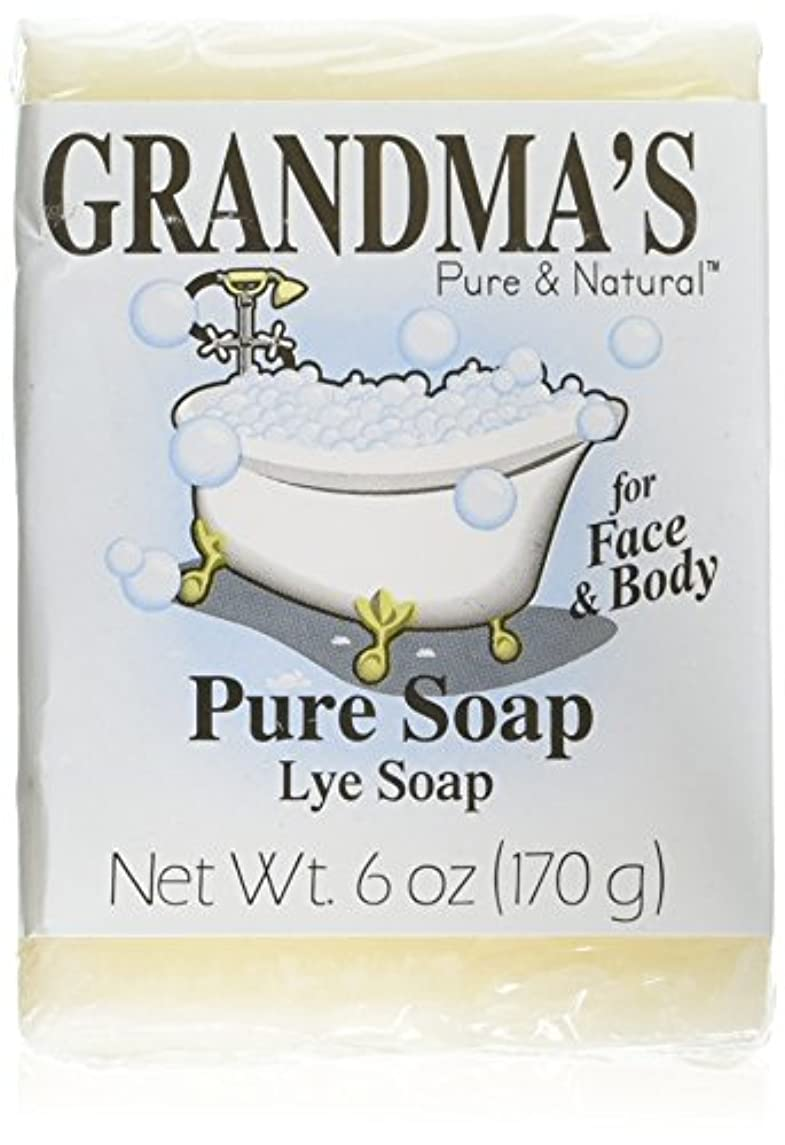 代表ホバー栄養Grandma's Pure & Natural Lye Soap Bars for Dry Skin No Additives 6oz (Set of 4)