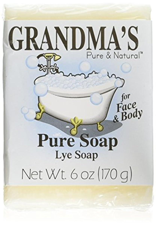 たっぷりピアノを弾く縮れたGrandma's Pure & Natural Lye Soap Bars for Dry Skin No Additives 6oz (Set of 4)