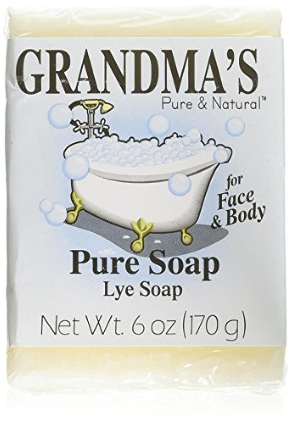 圧力地震食事Grandma's Pure & Natural Lye Soap Bars for Dry Skin No Additives 6oz (Set of 4)