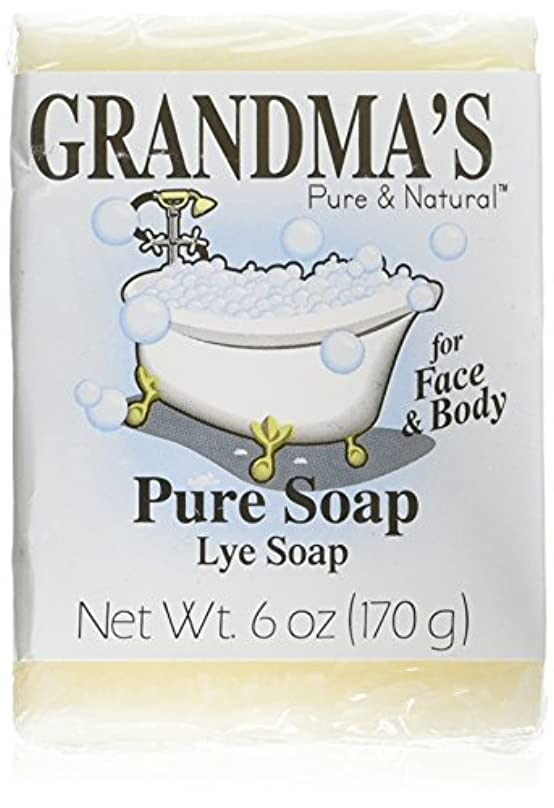 取得異なる手術Grandma's Pure & Natural Lye Soap Bars for Dry Skin No Additives 6oz (Set of 4)