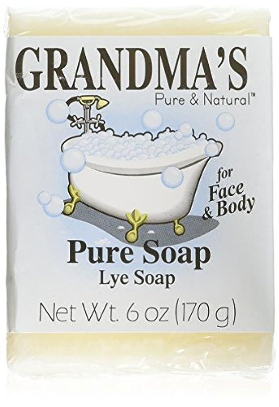 起業家腕動物Grandma's Pure & Natural Lye Soap Bars for Dry Skin No Additives 6oz (Set of 4)