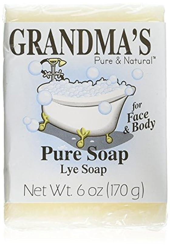 パレード不純盆地Grandma's Pure & Natural Lye Soap Bars for Dry Skin No Additives 6oz (Set of 4)