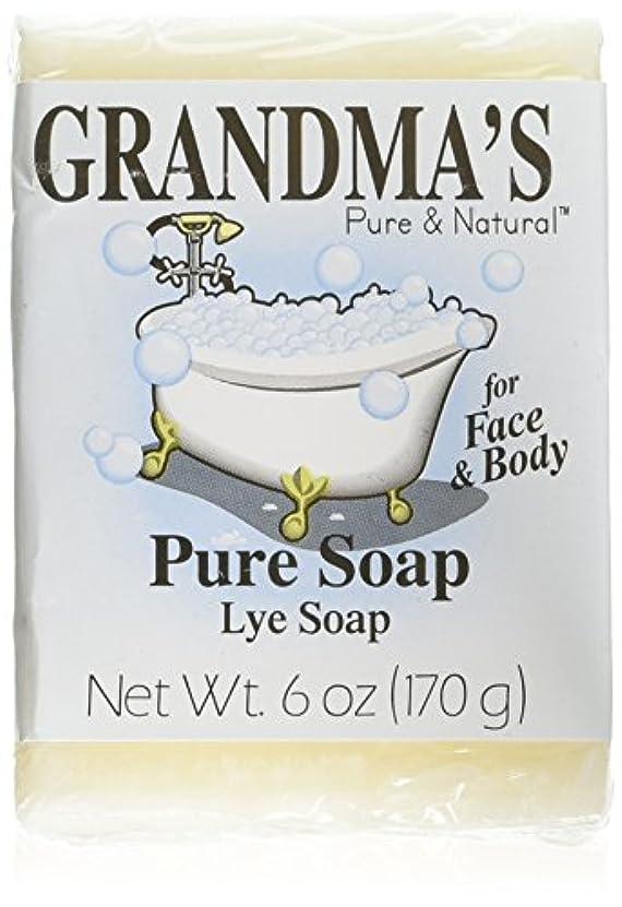 花瓶ペストリー凍るGrandma's Pure & Natural Lye Soap Bars for Dry Skin No Additives 6oz (Set of 4)