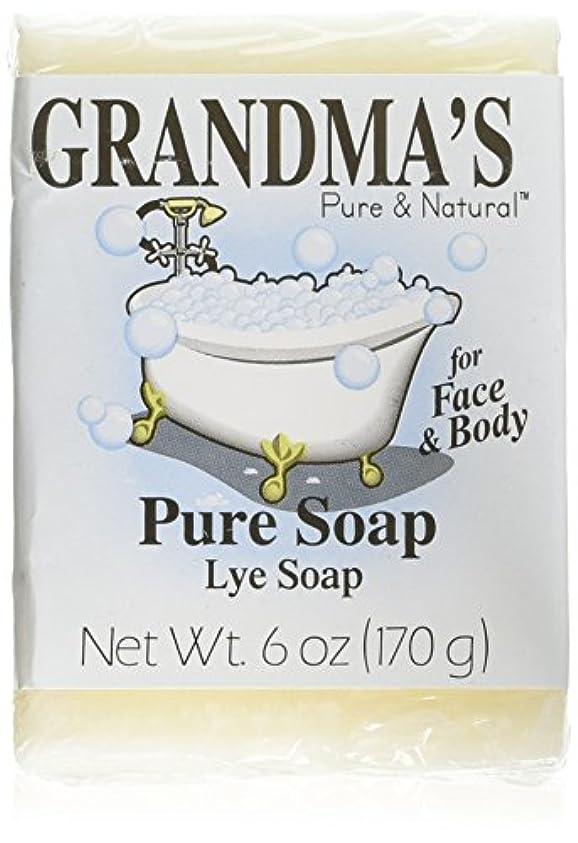 つぶすプレゼンター腸Grandma's Pure & Natural Lye Soap Bars for Dry Skin No Additives 6oz (Set of 4)