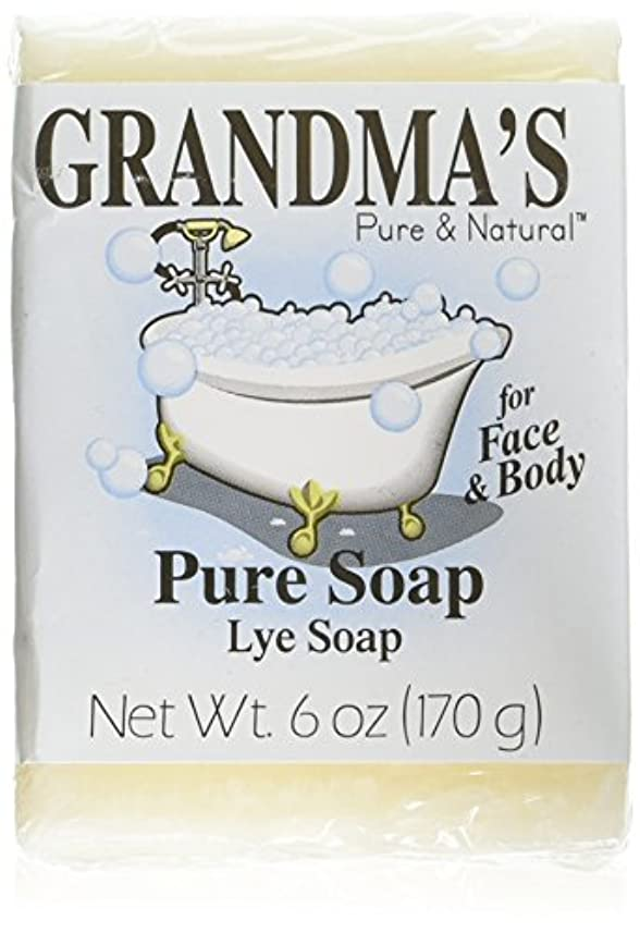 義務付けられた溶ける傾いたGrandma's Pure & Natural Lye Soap Bars for Dry Skin No Additives 6oz (Set of 4)