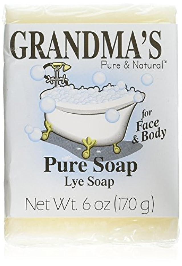 マウンドリード手入れGrandma's Pure & Natural Lye Soap Bars for Dry Skin No Additives 6oz (Set of 4)
