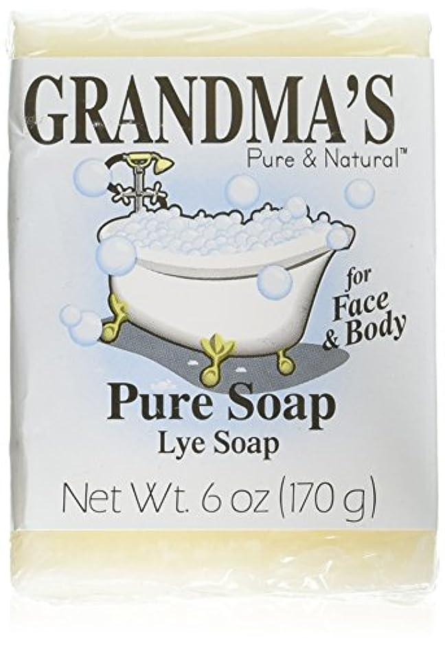 情緒的接続橋脚Grandma's Pure & Natural Lye Soap Bars for Dry Skin No Additives 6oz (Set of 4)