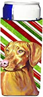 Caroline 's Treasures lh9235-parent Vizsla Candy Cane HolidayクリスマスUltra Beverage Insulators forスリム缶lh9235muk、、マルチカラー Slim LH9235MUK