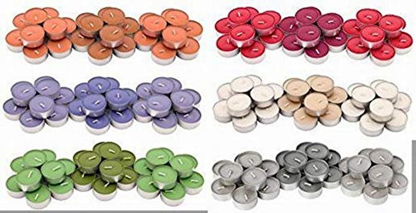 熱心ヘルメット不実IKEA SINNLIG 香り付ティーライト 30ピース × 6種類(レッドガーデンベリー、ピーチ&オレンジ、スイートバニラ、リンゴ&洋ナシ、ブラックベリー、ナツメグ&バニラ)