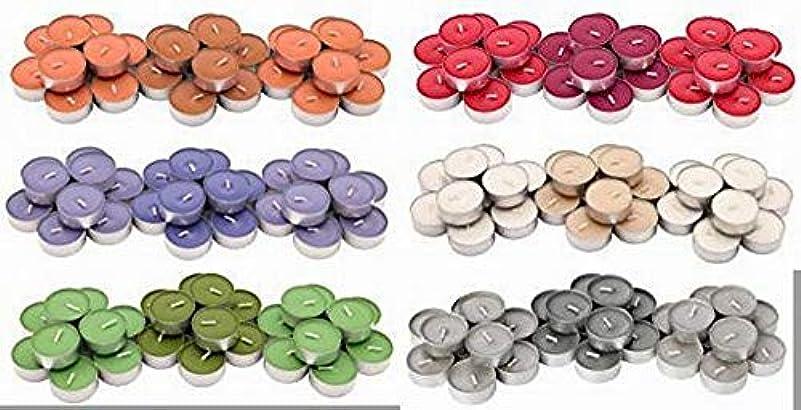 IKEA SINNLIG 香り付ティーライト 30ピース × 6種類(レッドガーデンベリー、ピーチ&オレンジ、スイートバニラ、リンゴ&洋ナシ、ブラックベリー、ナツメグ&バニラ)