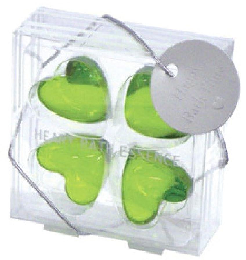 憎しみ植物学者傷つきやすいパトモス バスエッセンスハート 4P グリーンアップル