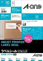 エーワン インクジェットプリンタラベル 光沢紙ラベル A4判 3面ファイル表示用   10シート(30片) 29235