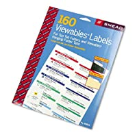 Smead : Viewables Color Labeling System,Label Pack Refill,3 1/2in,White,160/Pack -:- Sold as 2 Packs of - 160 - / - Total of 320 Each [並行輸入品]
