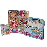 ベビーAlive a7022 My Baby All Gone Doll , Blondeバンドルwith Baby Alive Doll Food andおむつスーパー詰め替えパック( 30ピース)とHonestlyサーモスストローキュートマジックセット