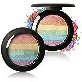 MakeupAcc 人気!虹ハイライトパウダー ラメアイシャドウ ミネラルパウダー チーク アートデザイン ハイライト (01) [並行輸入品]