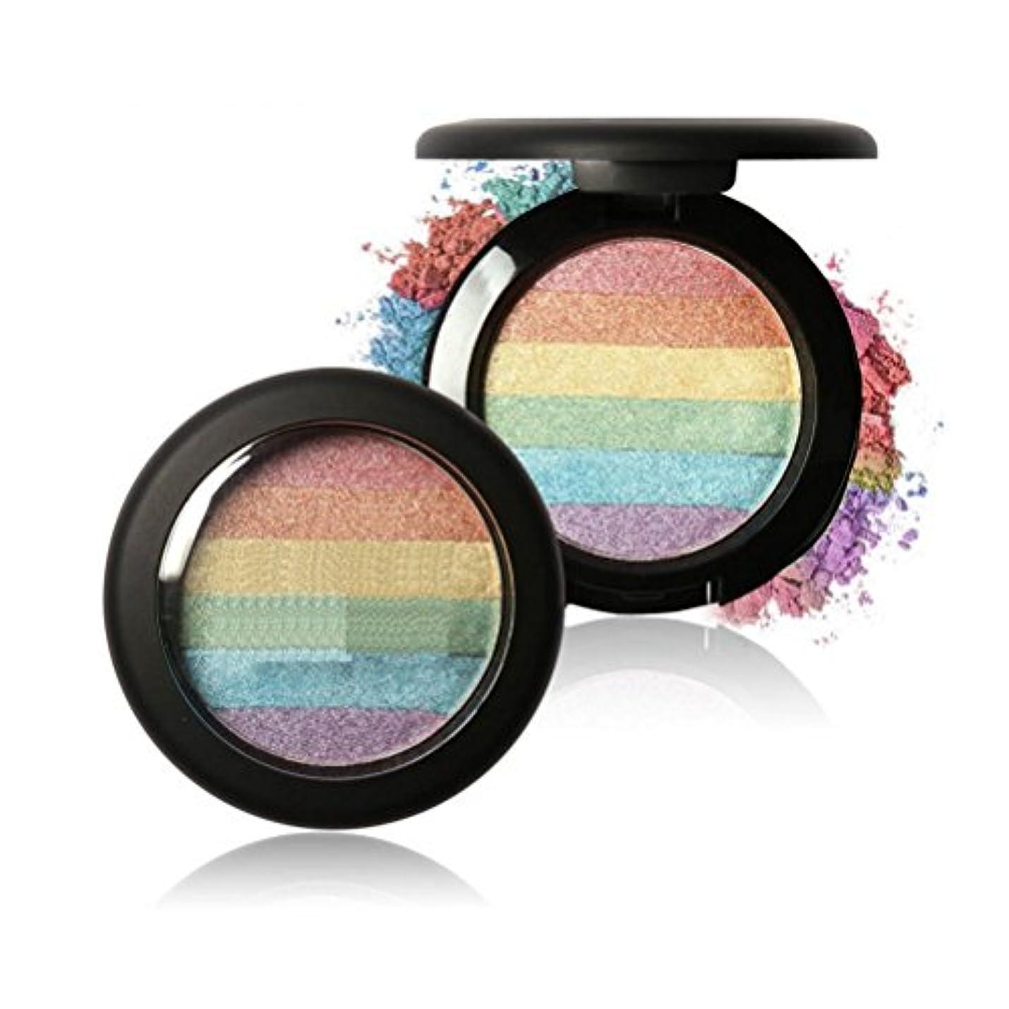 尊敬する匹敵します添付MakeupAcc 人気!虹ハイライトパウダー ラメアイシャドウ ミネラルパウダー チーク アートデザイン ハイライト (01) [並行輸入品]