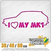KIWISTAR - I Love my MK1 15色 - ネオン+クロム! ステッカービニールオートバイ