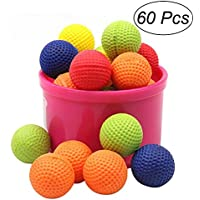 TOYMYTOY ナーフ弾丸 詰め替え 補充対応 子供対抗玩具 カラフル弾丸ボール 60個