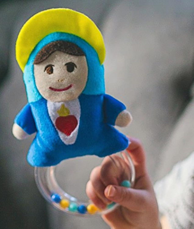 母メアリーPray For Us Baby Rattle Plush Toy
