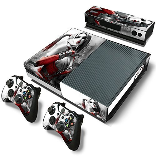 ZoomHit Xbox One Console Skin Decal Sticker Harley Quinn + 2 Controller & Kinect Skins Set [並行輸入品]