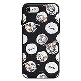iPhone8 iPhoneケース (ハードケース) [カード収納/ミラー付き/耐衝撃] ディズニー ダンボ ブラック CollaBorn (iPhone7対応) [並行輸入品]
