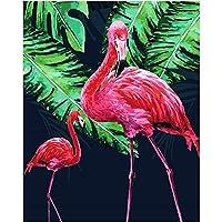 番号によるZddyx絵画Diy壁装飾花火鳥動物Diyデジタル絵画デジタル現代壁アートキャンバス絵画ユニークなギフトホームデコレーション40X50Cm、40X50Cm、フレーム付き