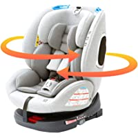 アイリスプラザ ISOFIX固定 チャイルドシート 回転式 新生児から ジュニアシート ベビーシート 乗り降りらくらく…
