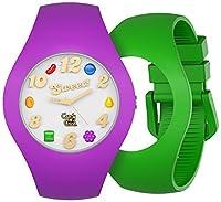 Candy CrushユニセックスWatch Grapeと香りApple, Interchangeable Wristbands
