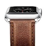 Apple Watch バンド Benuo アップルウォッチ交換ベルト 本革バンド 高品質 シンプル ビジネス 簡単交換 交換用ラグ付属 iWatch Series 2/Series 1/Edition/Sportに対応 (42mm, ダークブラウン)