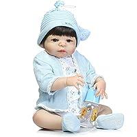 フルボディシリコンReborn Boysリアルな赤ちゃん人形Real Looking Babies With Hair Washable 22インチ