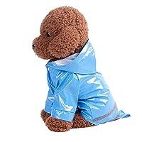 Burning Go ペット レインコート 犬 雨具 レインポンチョ 中 小型犬 帽子付き 防水 梅雨?策 散歩 反射テープ